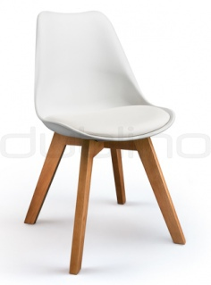 Scaun design - DL FINE WHITE, OAK