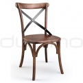 Scaune lemn - DL CROSS BROWN CHAIR