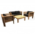 Mobile Lounge, Seturi Lounge - DL BALATON Teak Lounge Set